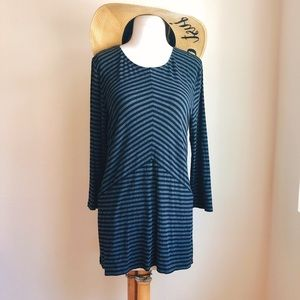 Vince Camuto Stripe Play Jersey Tunic Top